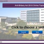 1st screenshot of the Anti-Bribery Act training module I created