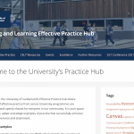 Screenshot of the Practice Hub - Home Page