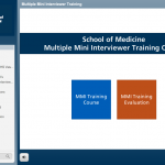 Screenshot of MMI training module, 1 of 3