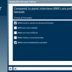 Screenshot of MMI training module, 3 of 3