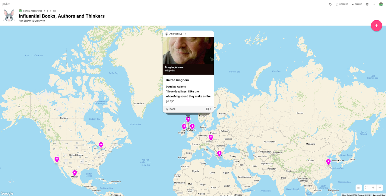 Padlet Map Example