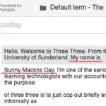 Panopto Fail 2 - Sunny Mackris Day