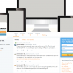 Screenshot of our Twitter page - public view