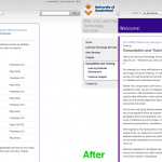 Even more before and after screenshots of our website